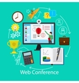 Web Conference Concept vector image