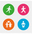 women pregnancy icon human running symbol vector image