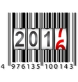 New Year 2017 counter barcode vector image