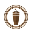 Logo coffee cup in a flat style vector image