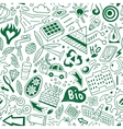 Ecology - seamless pattern vector image vector image