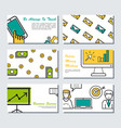 six card template - business banners vector image vector image