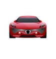 car on white background business sport car vector image