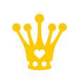 crown for little princess royal hat diadem vector image