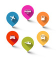 set of round flat transport pointers vector image