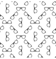 seamless glasses or spectacles pattern vector image