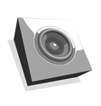 sound-system party flyer in shades of gray vector image
