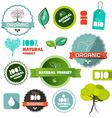 Bio Organic Natural Product Flat Design Labels - vector image