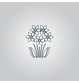 bush flower icon vector image