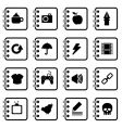 notebook icons vector image