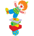 Circus clown equilibrist vector image