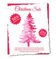 abstract christmas tree sale designs vector image