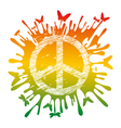 artistic hippie peace vector image