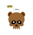 Bear skull mask Masquerade for Halloween o vector image