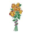 Bouquet of golden roses vector image