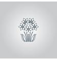 bush flower icon vector image