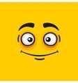 Cartoon Smile Face on Orange Background vector image