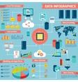 Data infographic set vector image