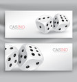 playing dice banners set vector image