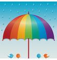raining sky background vector image