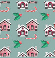 seamless pattern of christmas candy cane vector image