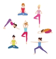 Set of Yoga class vector image