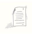 Sketched my document desktop icon vector image