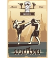 Muay Thai Boxing Poster vector image