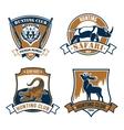 Hunting club icons safari hunt emblems vector image