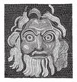 Mosaic baths of Agrippa vintage engraving vector image