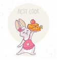 bunny cook vector image vector image