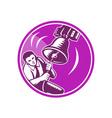 Businessman Ringing Liberty Bell vector image