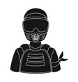 a player in paintballpaintball single icon in vector image