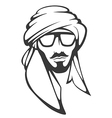 handsome arabian man vector image vector image