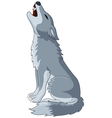 A wolf Howling on Top of its Lungs vector image vector image