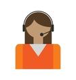 Call center operators avatar vector image