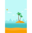 Background of small tropical island vector image