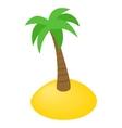 Island isometric 3d icon vector image