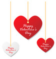 valentines day heart tag vector image
