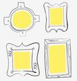 Art yellow frames vector image