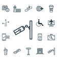 set of 16 transportation icons includes video vector image