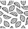 Leaves on white background vector image vector image