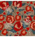 Seamless Vintage Floral pattern for Valentine vector image