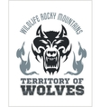 Head Wolf - North American ornamental style vector image vector image