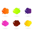 vibrant colorful speech icons vector image