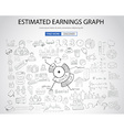 Estimate Earnings concept with Doodle design style vector image vector image