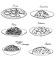 National dishes set vector image