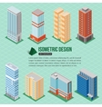 Set of 3d isometric tall buildings icons for map vector image