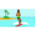 Professional wakeboard sportswoman vector image