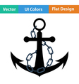 Icon of sea anchor vector image